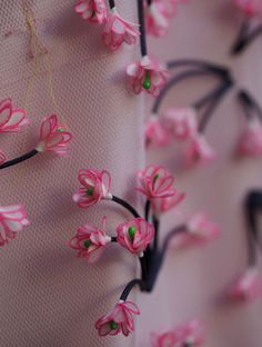 Floral embroidery from the Dior Spring-Summer 2013 Haute Couture collection