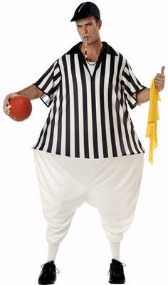 Adult Fat Referee Costume - Candy Apple Costumes - Sports & Cheerleaders