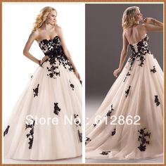 Cheap dress news, Buy Quality gown cocktail dress directly from China white wedding dress Suppliers: Strapless Sweetheart Neckline Ball Gown Black And White Wedding Dressescolor chart: 1.satin:2.chiffon:3.taffeta:&nb