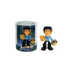 """Classic Star Trek Urban Vinyl Figure: Spock QUOGS by Funko Iconic Spock character with a modern, edgy look. """"Spock QUOGS Vinyl Figure"""" manufacturer's stock image About tall Vinyl Movable head and arms Figure is giving the Vulcan salute. Star Trek Beyond, Funko Pop, Star Trek Spock, Wacky Wobbler, Geek Toys, Star Trek Captains, Star Trek Collectibles, Video Clips, Dvd"""