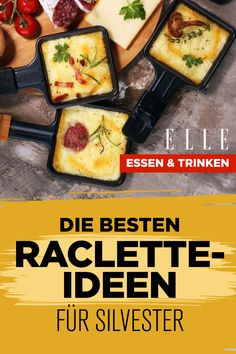 Raclette: 6 unusual Raclette: 6 ausgefallene Rezepte Six delicious raclette recipes for New Year's Eve Year's Eve - Easy Smoothie Recipes, Easy Smoothies, Good Healthy Recipes, Healthy Drinks, Healthy Snacks, New Year's Food, Coconut Recipes, Food And Drink, Easy Meals