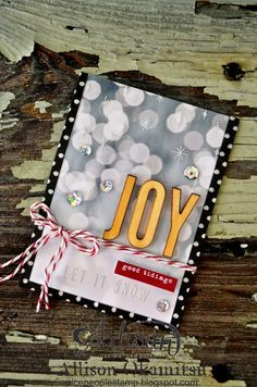Are you ready for a fabulous way to package up your holiday gift cards? What makes this project so adorable is the amazing Project Life by Stampin' Up! supplies I used to make it. - Allison Okamitsu