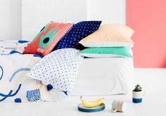 Designer Pillow Cases for the Bedroom | Arro Home I like the polka dot ones.