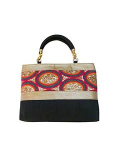 Bhamini Rainbow Raw Silk Handbag (Black) >>> Read more reviews of the product by visiting the link on the image.