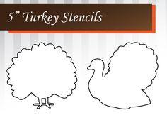 Free Printable Turkey Stencils