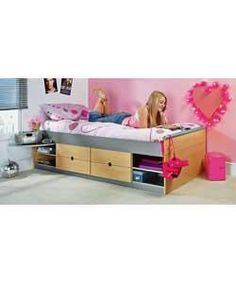 Teen Single Cabin Bed with Protector Mattress