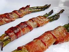 Asparagus, Bacon, Pork, Vegetables, Breakfast, Recipes, Drink, Kale Stir Fry, Morning Coffee