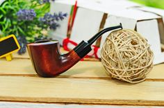 Smoking pipe Dublin /Tobacco pipe KAF203/Pipe for smoking/Wooden smoking pipe/Tabakpfeife/Pipa/Pear wood handcrafted pipe/Gift for groom by KAFpipeWorkshop on Etsy