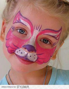 beautiful Baby face, Face-art, Aqua-makeup, kids party - Pin to Pin Girl Face Painting, Face Painting Designs, Painting For Kids, Animal Face Paintings, Animal Faces, Kitty Face Paint, Cat Face, Kids Makeup, Face Makeup