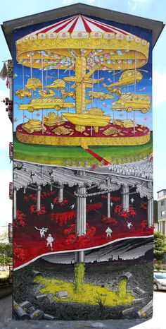 Les Peintures murales de Blu en Italie évoquent les Problèmes environnementaux (1)