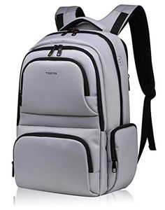 Kuprine Slim Business Water Resistant Laptop Backpack for Men 17 Inch Laptop College Computer Backpacks for WomenSilver Grey *** Find out more about the great product at the image link.