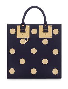 Sophie Hulme Polka Dot Studded Leather Bag