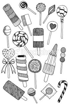 Lollipop doodles Royalty Free Stock Photo