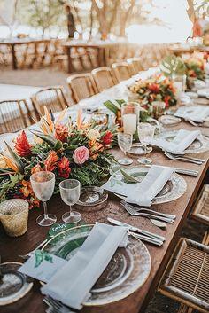 Best Weddings of 2020 – My Personal 20 Favourites Tropical Wedding Decor, Boho Beach Wedding, Beach Wedding Decorations, Chic Wedding, Floral Wedding, Table Decorations, Wedding Blog, Beach Wedding Tables, Tropical Weddings