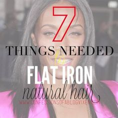 7 Things You Should Have To Safely Flat Iron Natural Hair - Modern Black Hair Growth, Black Hair Care, Hair Growth Oil, Natural Hair Care Tips, Natural Hair Journey, Natural Hair Styles, Thing 1, Hair Health, Hair Hacks