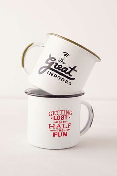 cute enamel mugs - a fun gift for your adventurous friend