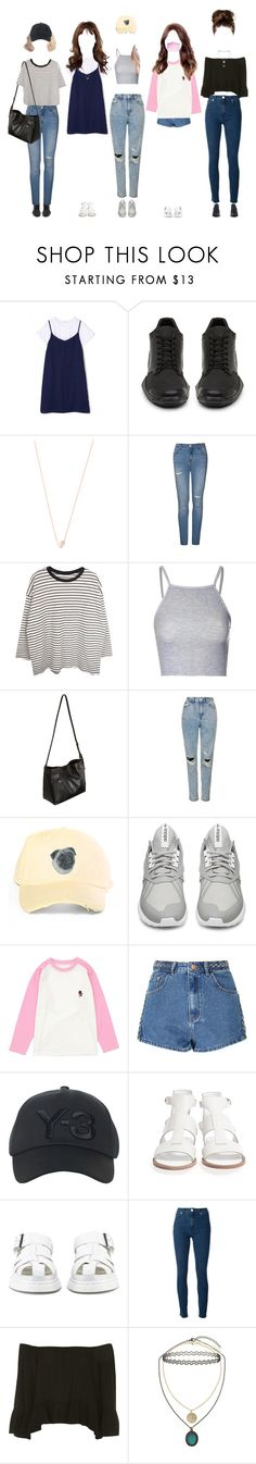 """Promise arriving at Music Bank"" by promise-official ❤ liked on Polyvore featuring adidas, Ariel Gordon, Ally Fashion, Glamorous, STELLA McCARTNEY, FARIS, Topshop, Y-3, Jil Sander Navy and Dr. Martens"