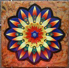 Polymer Clay Mandala by Susan Buhrman on the Polymer Arts Blog