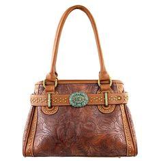Montana West Floral Tooled Handbag, Concealed Carry