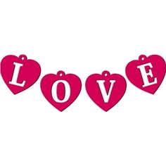 Silhouette Design Store - View Design #15889: love garland charms