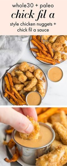 Chicken Nuggets Recipe (Paleo, Chick-Fil-A Method) Nuggets de pollo (Chick-Fil-A Style + Chick-Fil-A Sauce, Paleo) Whole 30 Diet, Paleo Whole 30, Whole 30 Recipes, Whole Food Recipes, Diet Recipes, Cooking Recipes, Healthy Recipes, Paleo Meals, Recipes Dinner