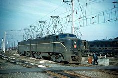 Pennsylvania Railroad consist led by #4939 at Potomac Yard in Arlington Virginia (January 2nd 1961).