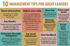 10 Management Tips for Great Leaders