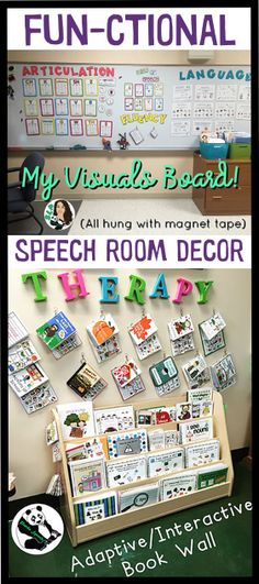 FUN-ctional speech room decor ideas!