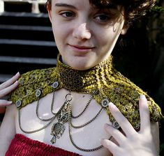 Hardware Heaven - Statement Neck piece pattern by Sarah jane #DIY-Crafts