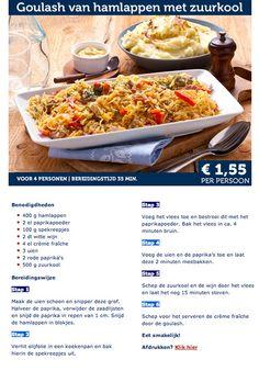 Goulash van hamlappen met zuurkool - Lidl Nederland