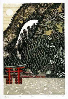 These beautiful woodblock made by Japanese printmaker and painter Ray Morimura Japanese Illustration, Illustration Art, Art Occidental, Japanese Woodcut, Art Chinois, Japan Painting, Art Asiatique, Art Japonais, Japanese Prints