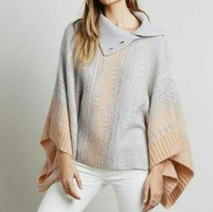 Free People fair isle WILLOW PONCHO sweater Cozy patterned poncho in a luxe knit. Silhouette features a ribbed mock neck and dropped armholes to keep you as warm as can be.    *40% Acrylic  *22% Nylon  *22% Wool  *12% Polyester  *2% Spandex  *2% Alpaca  *Hand Wash Cold  *Import   BRAND NEW WITH TAGS Free People Sweaters Shrugs & Ponchos