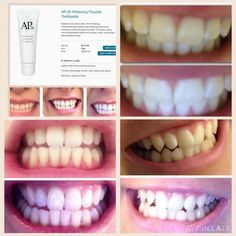 AP-24® Whitening Fluoride Toothpaste lightens teeth without peroxide while preventing cavities and plaque formation. This gentle, vanilla mint formula freshens breath and provides a clean, just-brushed feeling that lasts all day. Love it, want it, message me how to get it!