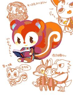 Animal Crossing Fan Art, Animal Crossing Villagers, Animal Crossing Characters, Cute Cartoon Characters, Animal Crossing Pocket Camp, Kawaii Games, Cute Games, New Leaf, Art Pictures