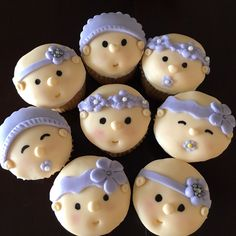 Baby girl cupcakes These adorable baby girl cupcakes will be perfect for a shower or baby announcement.