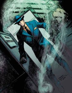 The Question: The Deaths of Vic Sage #3 - Denys Cowan (pencils), Bill Sienkiewicz (inks), and Chris Sotomayor (colors) Batman Comic Books, Batman Comics, Comic Books Art, Comic Art, Dc Comics Characters, Dc Comics Art, Book Cover Art, Comic Book Covers, Character