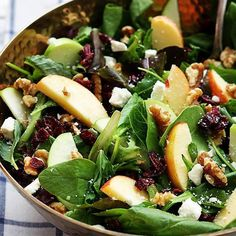 4 MOM Recipes |   APPLE CRANBERRY WALNUT SALAD