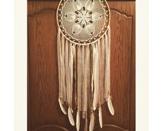 Triangle Dream Catcher Wall Hanging by VagaBoundPeople on Etsy