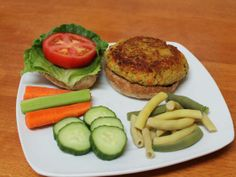 veggie loaded quinoa red lentil burger