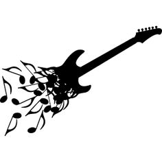 E-Gitarre aus Noten - Eine Elektro Gitarre bzw. E-Gitarren bestehend aus vielen kleinen Noten.