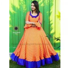 order contact my whatsapp number 7874133176 Long Dress Design, Dress Neck Designs, Blouse Designs, Long Gown Dress, Long Frock, Long Gowns, Long Dresses, Frock Models, Ikkat Dresses
