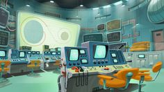 """Some Environment Stuff for """"Space Dogs II"""" on Behance"""