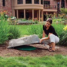 1000 images about hide septic tank on pinterest septic for Landscape rock utility cover