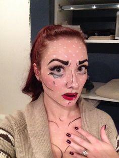 Comic book makeup.