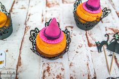 Lovely Halloween Witch Cupcakes