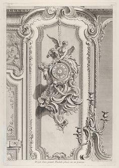 Projet d'une grande Pendule, from 'Oeuvre de Juste Aurele Meissonnier'Juste Aurèle Meissonnier, French