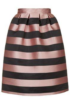 PETITE Stripe Prom Midi Skirt - Topshop