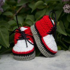 Ganchillo zapatillas de deporte del bebé, recién nacido del ganchillo botines, zapatos Soft Sole bebé, zapatos del bebé, niño Boy botines, Crochet botines para Niños, Boy Zapatos                                                                                                                                                      Más