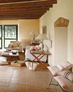 Great Spanish House in Rustic Style by Coton Spanish Style Homes, Spanish House, Style At Home, Living Area, Living Spaces, Living Room, Restored Farmhouse, Farmhouse Remodel, Home Decor Inspiration