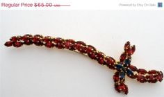 On Sale Today Vintage Red Rhinestone Sword by TheJewelryLadysStore, $52.00